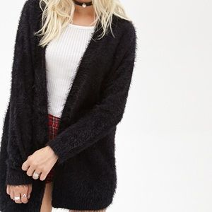 F21 SHAGGY/FUZZY CARDIGAN (w buttons and pockets)